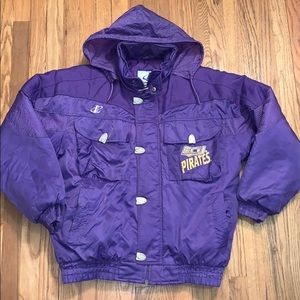 Vintage ECU Logo Athletic Puffer Jacket